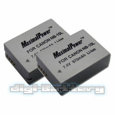 TWO BATTERIES for CANON NB-10L PowerShot G15 G16 G1 X SX40 SX50 HS BATTERY X 2