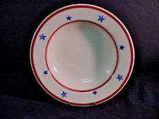 HARTSTONE ALL AMERICAN (PATRIOTIC PATTERN) 2 RIMMED SOUP BOWLS NEW $40 VALUE