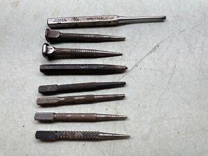 Punch Chisel Tool Lot Center Precision Metal Nail VLCHEK CRAFTSMAN STANLEY+