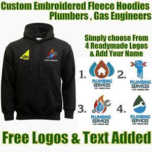 Personalised Embroidered Gas Safe Register Hoodies Workwear Hoodie Top Free Logo