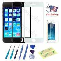 for Apple iPhone 5S 5 Front Outer Glass Lens Screen Replacement Repair Kit Tools