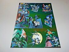 Batman & Robin  Skybox Sheet of 6 Trading Cards 1995 Uncut  R1-R9