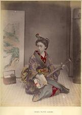 Photo Kusakabe Kimbei Albuminé Japon Japan Geisha Vers 1880