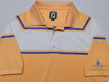 FootJoy Golf Polo Shirt The Biltmore Peach Orange Blue Medium M