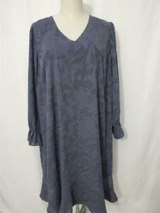 NWT ANN TAYLOR LOFT Plus Size 26  3X  Gray Embossed Cocktail Party Dress
