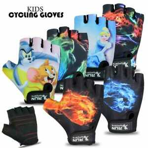 CHILDREN KIDS BOYS GIRLS PADDED CYCLING SCOOTER BMX BIKE GLOVES CYCLE BICYCLE
