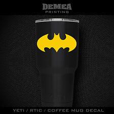"Batman -3"" DECAL/STICKER for Yeti/Rtic//Tumbler/Coffee/Wine"
