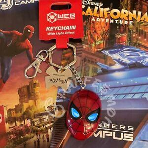 Disney Avengers Campus Spiderman Light up Keychain Disneyland Marvel New
