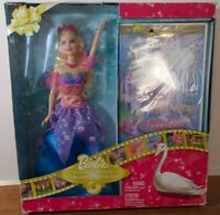 Barbie Fairytale Collection Swan Lake Doll And DVD combo Damaged Box