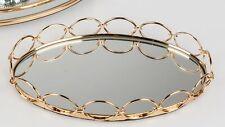 Spiegeltablett MODERN GOLD oval 28x19cm gold Glas + Metall Formano W19