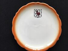 Syracuse China Bread & Butter Plate w/ Red Rooster in a Shield & Scalloped Edge