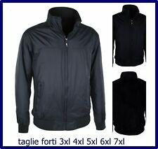 Giubbotto giubbino giacca piumino da uomo invernale taglie forti 3xl 4xl 5xl 6xl