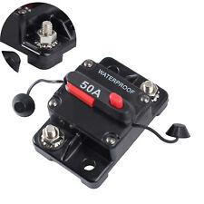 50AMP CIRCUIT BREAKER DUAL BATTERY IP67 W/PROOF 12V/24V FUSE MANUAL RESET