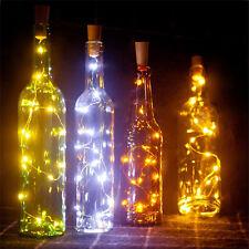 Cork Shaped 20 LED Night Light Starry Lights Wine Bottle Lamp For Wedding Party