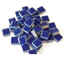 Ceramic Mosaic Tiles - 50 tiles - 3/8 inch Royal Blue, DTI
