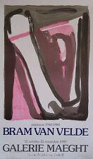 VAN VELDE BRAM AFFICHE 1980 TIRÉ EN LITHOGRAPHIE MAEGHT ARTE LITHOGRAPHIC POSTER