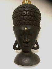 VTG Buddha Mask Hand Carved Wood Balinese Indonesian Asian Wall Art Home Decor