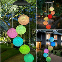 Color-Changing LED Solar Mobile Spiral Spinner Wind Chime Outdoor Hanging Lights