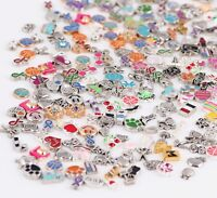 30x Mixed Charms lots Floating for Living Memory Locket Bracelets Necklace Charm