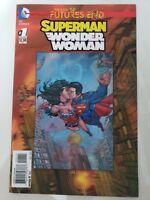 SUPERMAN WONDER WOMAN FUTURES END #1 3D LENTICULAR MOTION COVER (2014) DC NM