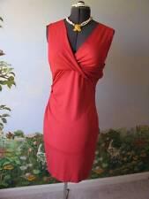 DVF Diane Von Furstenberg Women Red Parker Jersey Dress SZ L NWT