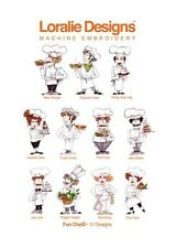 Loralie Embroidery CD Fun Chefs Embroidery Design Collection 630-025 - CD