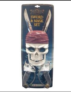 Pirate Mask & Sword Set Great Halloween Fancy Dress Christmas Gift For Boys