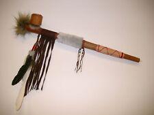 Indianer Friedenspfeife funktionsfähig 50 cm / pipe 50