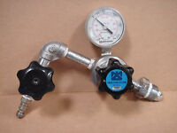 Matheson 63-2204 Compound Pressure Gauge #22 with Regulator