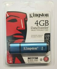 Kingston DataTraveler Vault Privacy 3.0 4GB USB 3.0 Encrypted Flash Drive - FAST