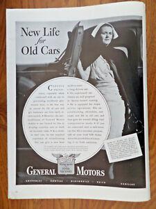 1942 GM General Motors Ad Chevrolet Pontiac Olds Buick Cadillac Nurse