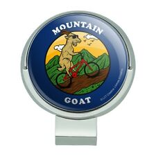 Mountain Goat Biking Funny Humor Golf Hat Clip With Magnetic Ball Marker