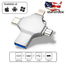 128/256/512Gb Usb Memory Photo Storage Stick Flash Drive For iPhone Android Micr