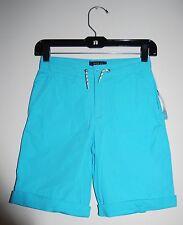 Polo Ralph Lauren Big Boys Aqua Blue Woven Drawstring Cuffed Shorts, size 10