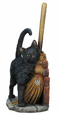 """11"""" A Brush with Magick By Lisa Parker Sculpture Figure Statue Magic Black Cat"""