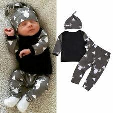 6-12M Newborn Baby Boy Tops Romper Bodysuit Jumpsuit Pants Outfits Clothes Set8A