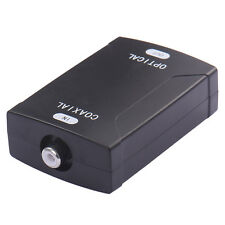 Optical Digital Audio Converter COAX Coaxial to TOSlink 24bit/192K HD Sampling