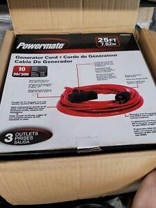 Powermate PA0650207 - 30-Amp 25-Foot Generator Cord (3-Prong)