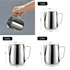 Stainless Steel Milk Cup Frothing Pitcher Steam Espresso Coffee Latte Mug Cup US