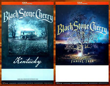 BLACK STONE CHERRY Family Tree & Kentucky Ltd Ed 2 Posters Lot +FREE Rock Poster
