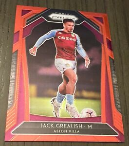 20/21 Prizm #279 Jack Grealish Red Stars Refractor 26/28 Manchester City England