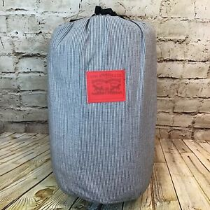 """Levi's x Target Limited Edition 50""""x60"""" Gray Striped Throw Blanket"""