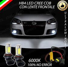 COPPIA LAMPADE FENDINEBBIA HB4 A LED CREE COB CANBUS VW GOLF 5 V 100% NO ERRORE