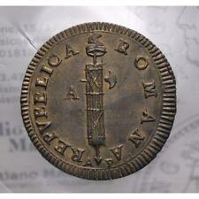 Due Baiocchi Ancona s.data (Prima Repubblica Romana: 1798-1799) qFDC LOT1396