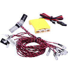 F04621 8 LED Multi-color Flashing Light System For RC Car Helicopter Multicopter