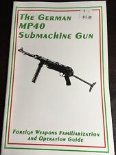 The German MP40 Submachine Gun