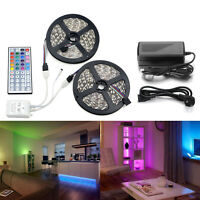 5-10M 5050 RGB 300-600LED Strip Light Lighting Kit/44keys IR Remote/12V Power