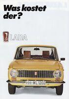 Lada 1200 S Prospekt 1984 2/84 Autoprospekt brochure broszura broshura broschyr