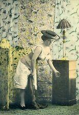 Wunderschöne erotische Ansichtskarte Foto Kaiserzeit Mieder Unterwäsche Mode