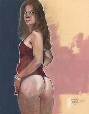 Capella In History 11x14in. Watercolor Nude Figure Leo Charre